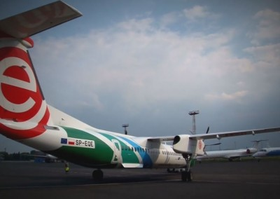 "Eurolot ""malowanie samolotu Bombardier"""